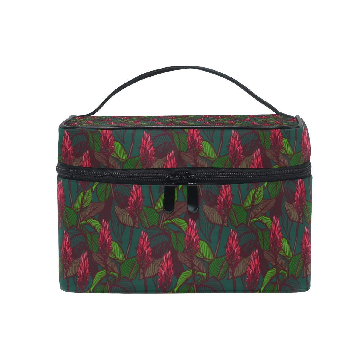 b916f9895976 Amazon.com : Cosmetic Bag Colorful Stylized FloralTravel Makeup ...
