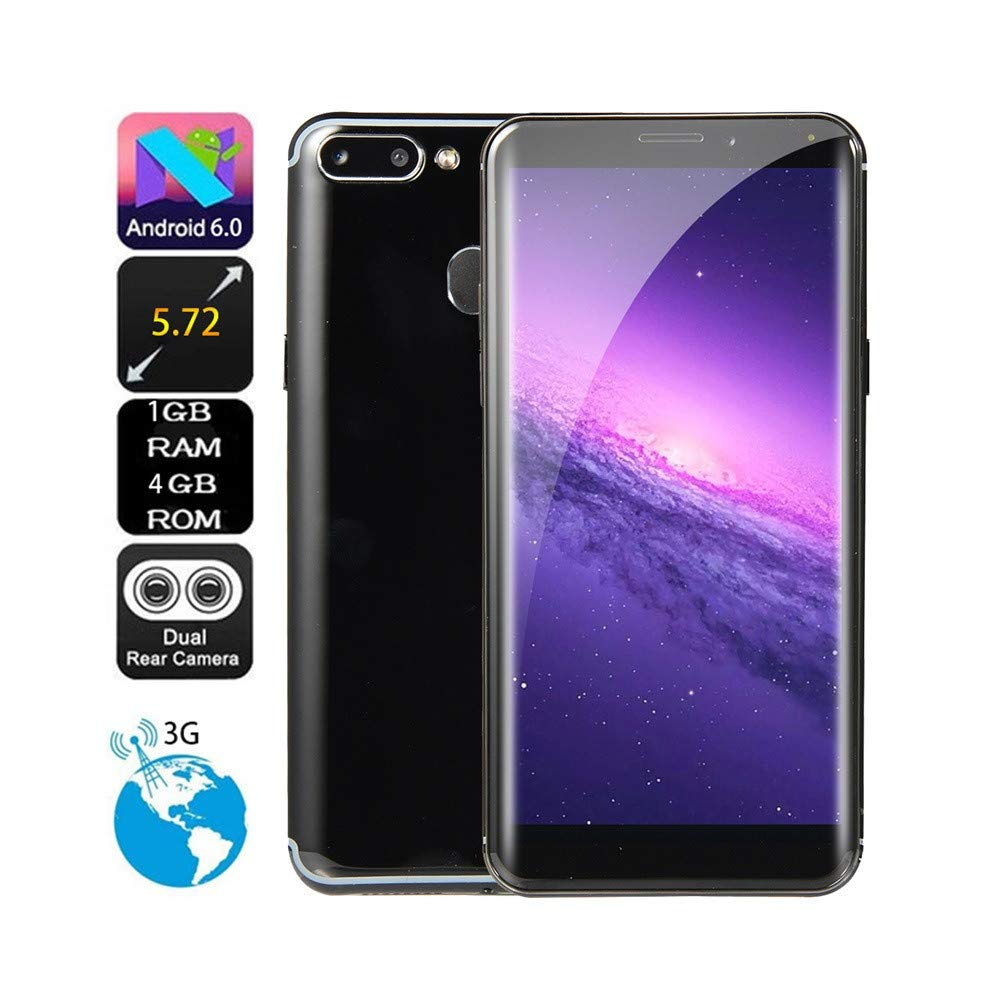 5.72 inch Dual HD Camera Unlocked Smart Phone Android 6.0 IPS Full Screen 1GB+4GB GPS 3G Phone