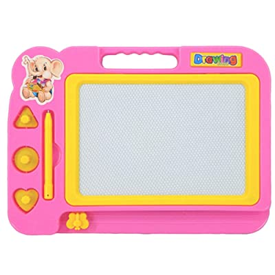 AMETUS Children Kid Color Magnetic Writing Painting Graffiti Board Toy Preschool Tool Drawing Toys Pink: Toys & Games
