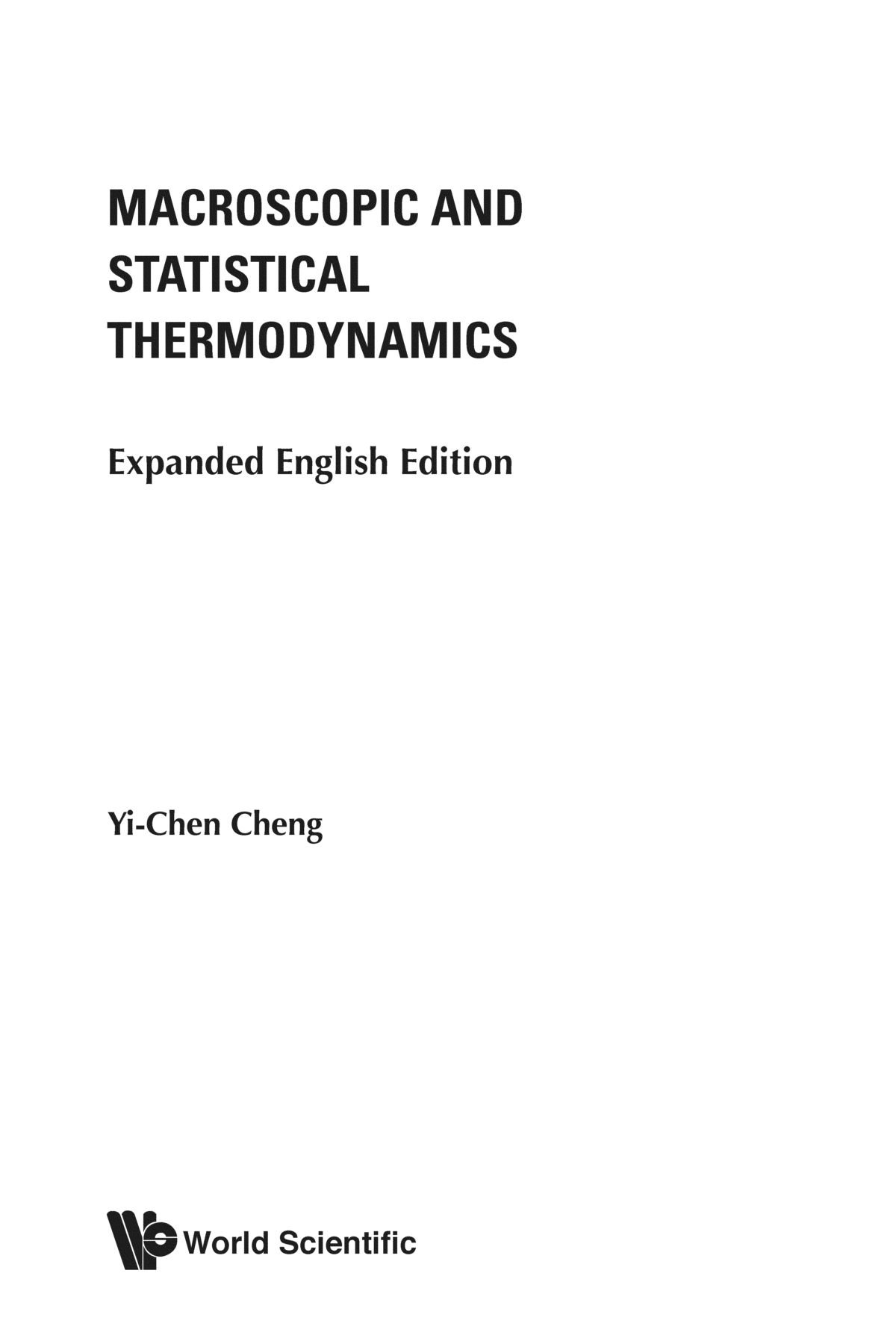 Download Macroscopic and statistical thermodynamics: expanded english edition pdf epub