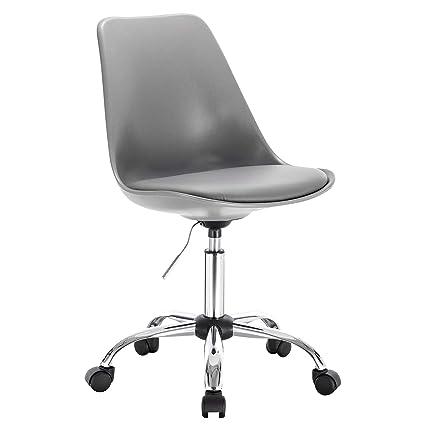 Superb Woltu Bar Stool Grey On Wheels Gas Adjustable Swivel Ncnpc Chair Design For Home Ncnpcorg