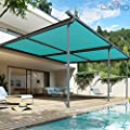 Patio Paradise Sunblock Shade Cloth Roll,Turpoise Green Sun Shade Fabric 95%UV Resistant Mesh Netting Cover for Outdoor,Backyard,Plant,Greenhouse,Barn