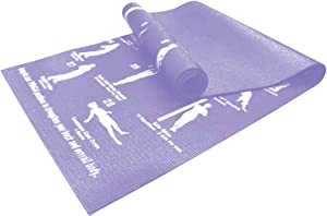 WedDecor Yoga Mat Training mat Gym Mat Eco Friendly Foldable Workout Mats for Home with 28 Printed Poses Nbr Fitness Exercise Mats for Yoga, Gymnastics, Pilates Mats with Bag Perfect for Women & Mens