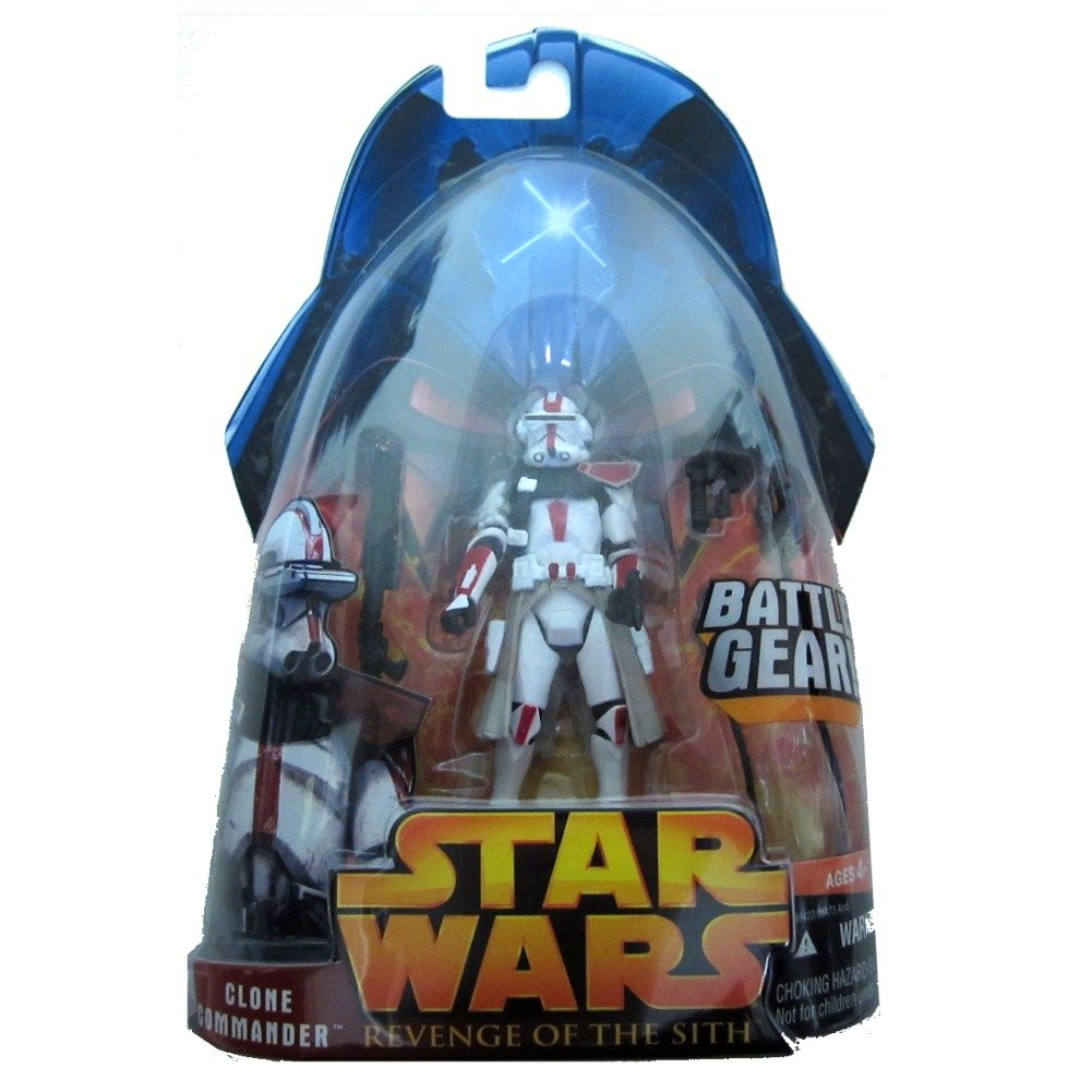 Star Wars ROTS #33 Red Clone Commander Hasbro