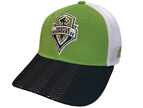 276bb771dc7 Image Unavailable. Image not available for. Color  adidas Seattle Sounders  FC Tri-Tone Authentic Structured Mesh Snapback Hat Cap