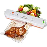 Vacuum Sealer Machine,Automatic Vacuum Air Sealing System for Food Storage Plus 10 Free Sealable Bags by WeChip