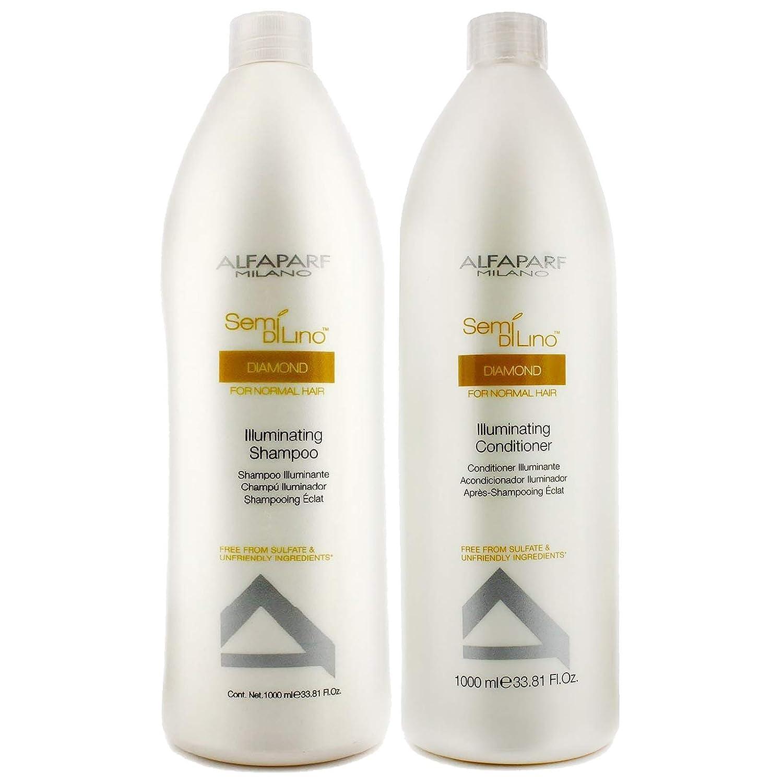Alfaparf Semi Di Lino Illuminating Shampoo & Conditioner 1000ml Mainspring America Inc. DBA Direct Cosmetics Alf-7160