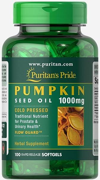Amazon.com: Puritan s Pride Aceite de Semillas de calabaza ...