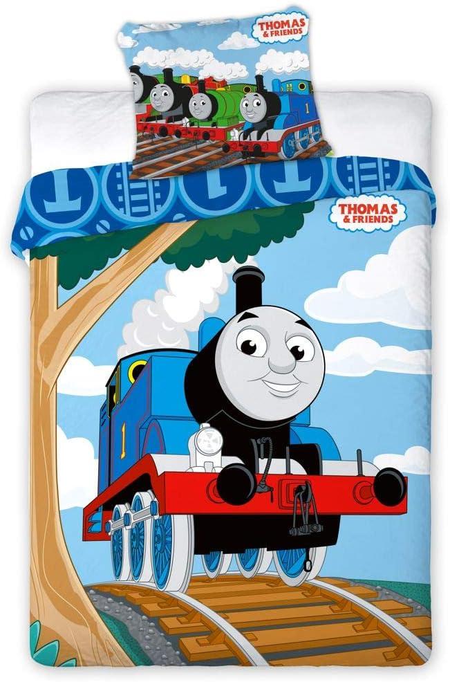 Thomas and Friends Locomotive Coussin Coussin Coussin Bleu 40 x 40 cm