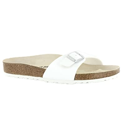 9fe2a66f493d Birkenstock Madrid White Womens Sandals Size 39 EU  Amazon.co.uk  Shoes    Bags