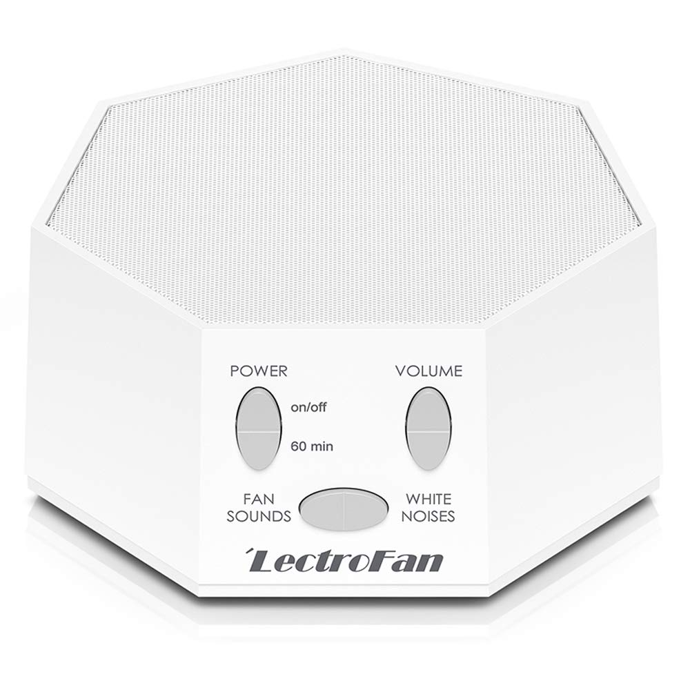 LectroFan High Fidelity White Noise Machine with 20 Unique Non-Looping Fan and White Noise Sounds and Sleep Timer, Global Power Edition by Adaptive Sound Technologies