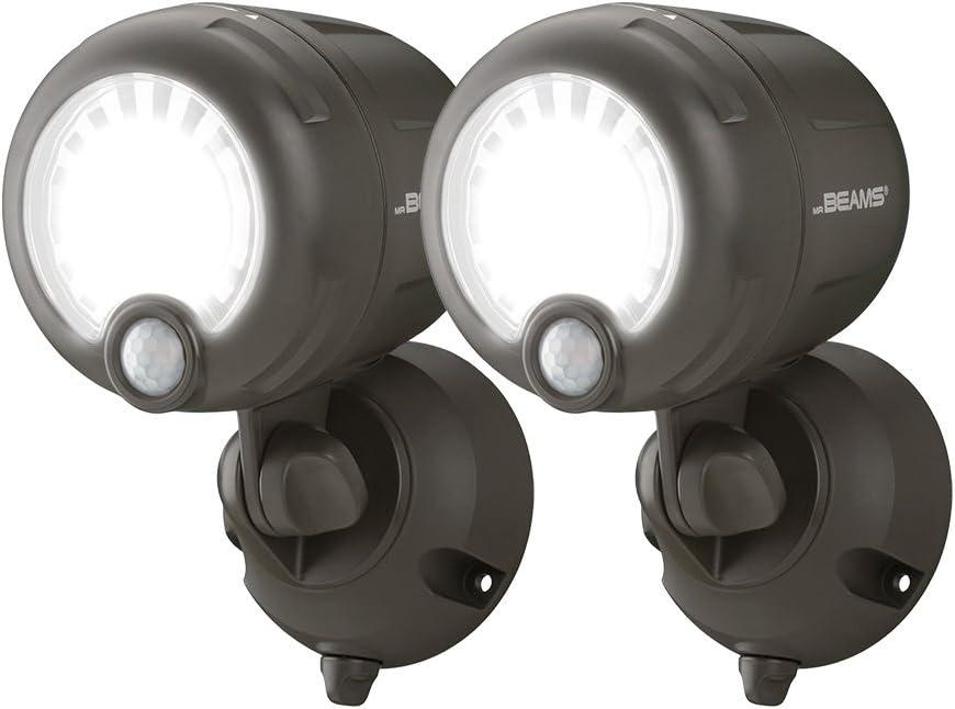Mr Beams Motion Sensored Battery Powered LED MB360XT Spotlight Dark Brown