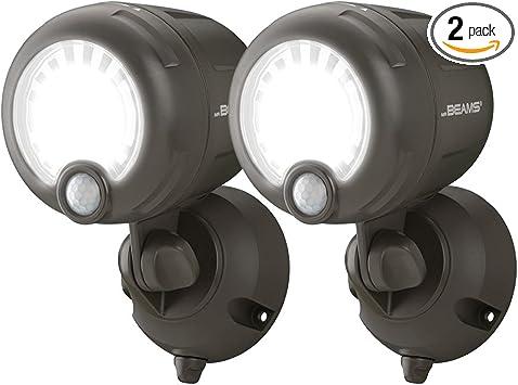 3 MR BEAMS Black Security Spotlight Motion Sensing Battery LED Adjustable NEW!!