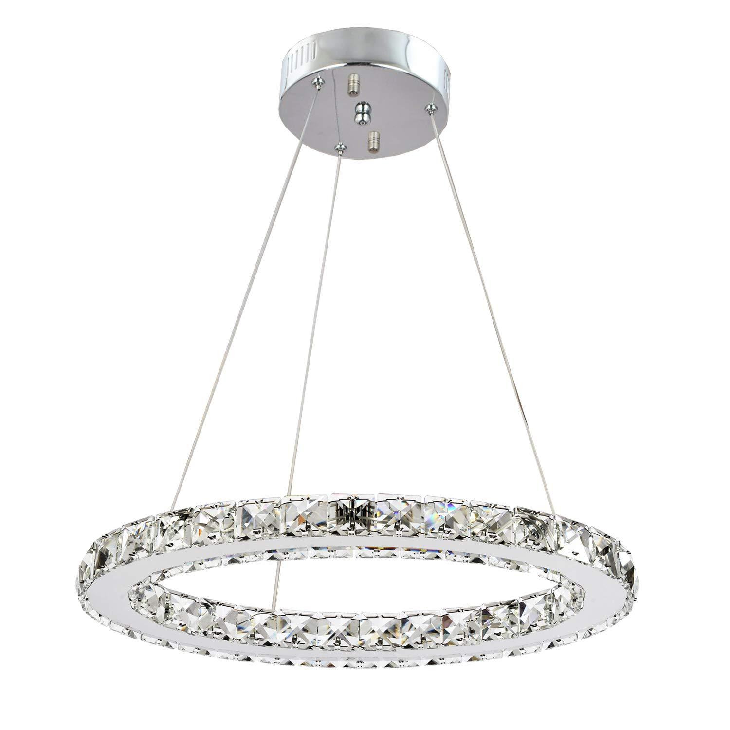 Gdns modern crystals chandeliersceiling lights fixturespendant lighting for living room bedroom restaurant porch dining roomone rings one ringdia 30cm