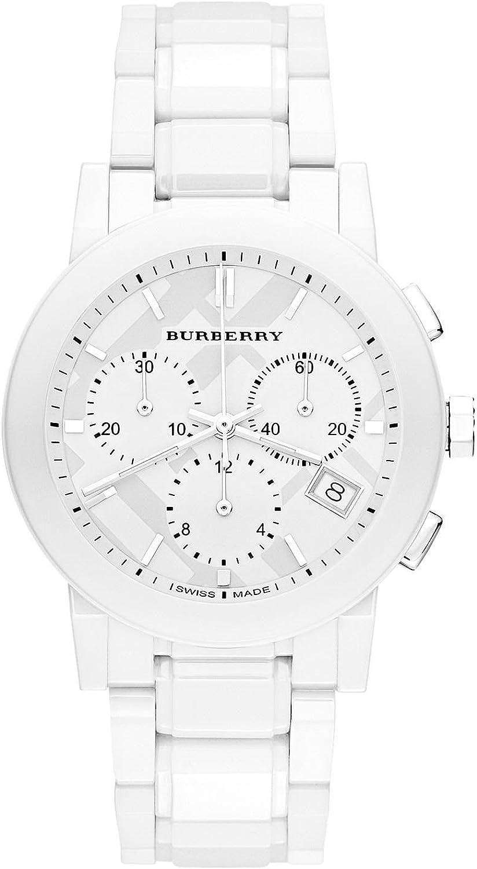 Burberry Burberry - Reloj de pulsera hombre, cerámica, color blanco