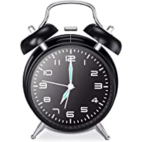 chaobai Doble Campanas Reloj Despertador con Luz NocturnaVintage