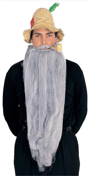 "Beard 25/"" Long Synthetic Fiber Costume Beard W// Attached Mustache"