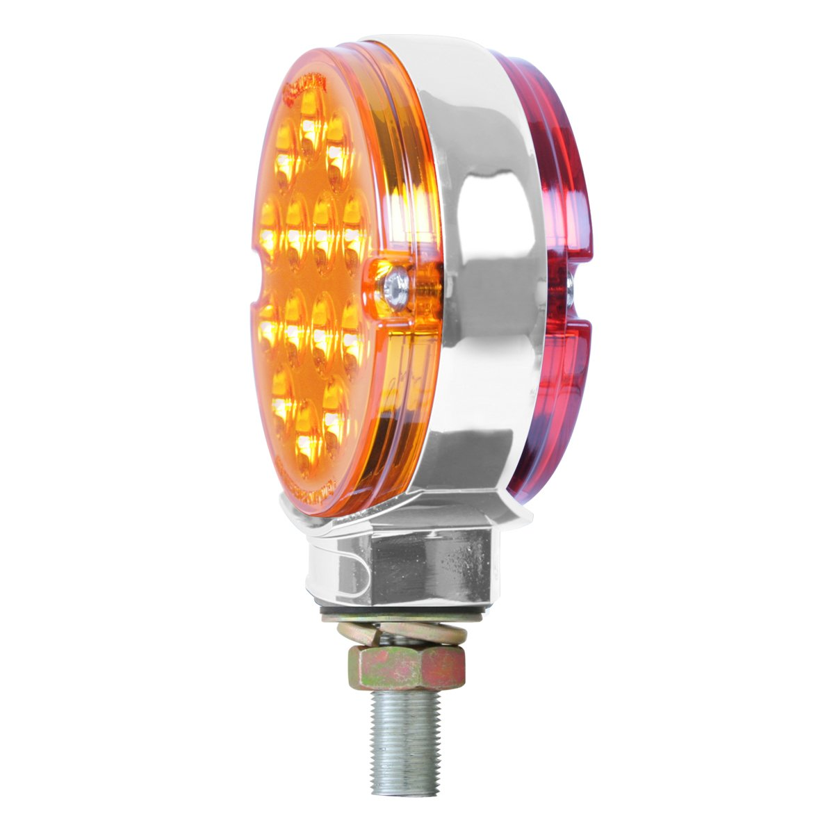 Grand General 75190 Amber/Red 3'' Pearl Double Faced 14 LED Light by Grand General