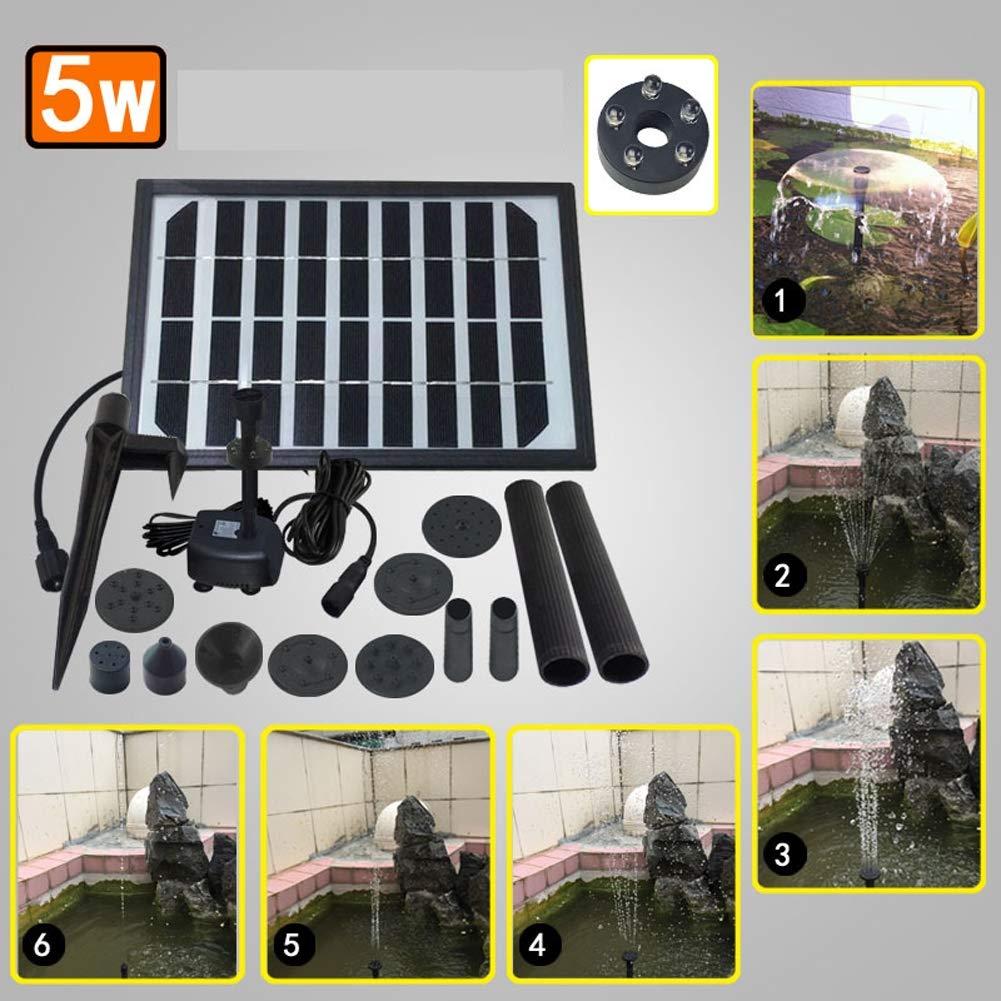 ... Equipo de Paneles de Bomba de Agua de Energía Solar Fuente Bomba Sumergible para Baño de Pájaros, Pecera, Estanque Pequeño, Decoración de Jardín ...