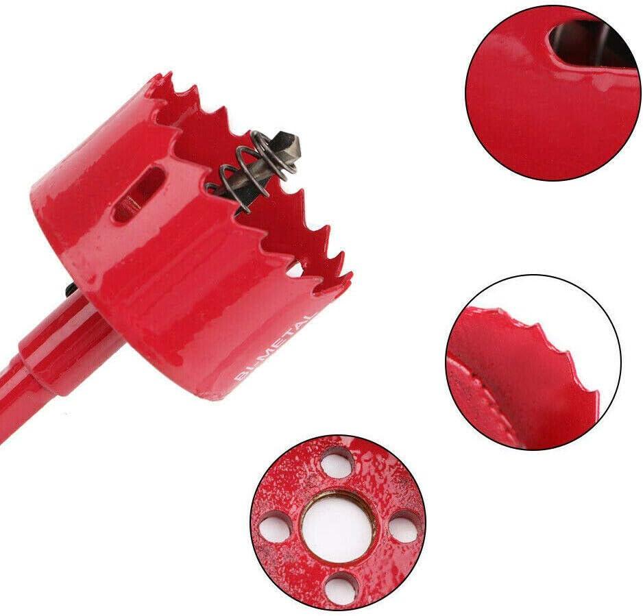 metal Powertool rojo madera pl/ástico aluminio acero inoxidable Broca para sierra perforadora de metal para tuber/ías M42