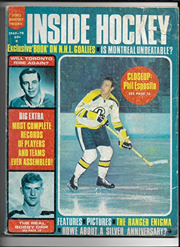 1969-70 Sports Quarterly Presents: Inside Hockey Magazine Esposito & Orr Cover ()