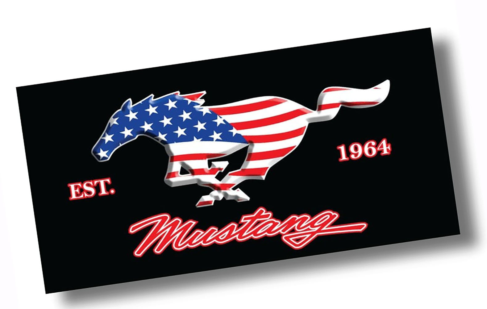 "Custom & Luxurious {30"" x 60"" Inch} 1 Single Large & Thin Soft Summer Beach & Bath Towels Made of Quick-Dry Cotton w/ United States Of America Flag Mustang 1964 Patriotic Style [Multicolor]"
