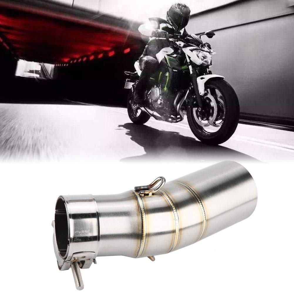 Motorrad Zubeh/ör Edelstahl Auspuff Mittleres Mittleres Verbindungsrohr Auspuffrohr Motorrad Auspuff Mittleres Rohr