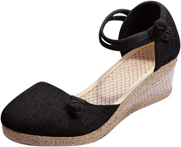 Schuhe Ohne Schnürsenkel Damen Dicke Sohle Wedges Elegant