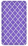 Decorated Amped Art 5000 - High Capacity 5,000 mAh Power Bank with 2 USB Outputs, for iPhone, iPad and Samsung Galaxy, Android, and More - Purple Geometric