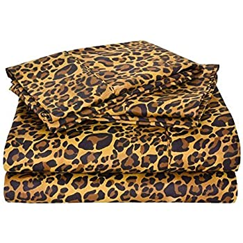 Exceptionnel Leopard Print 4PCs Bed Sheet Set Queen Size Bland Durable Quality Genuine  600 Thread