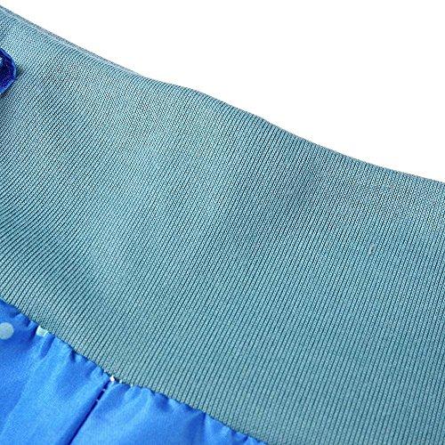 NINGSANJIN Haute Button Harem Elastique Bouffant Stretch Femme avec Pantalon Fluide Decoration Taille Bleu Ceinture Ceinture Causal AwqPArI