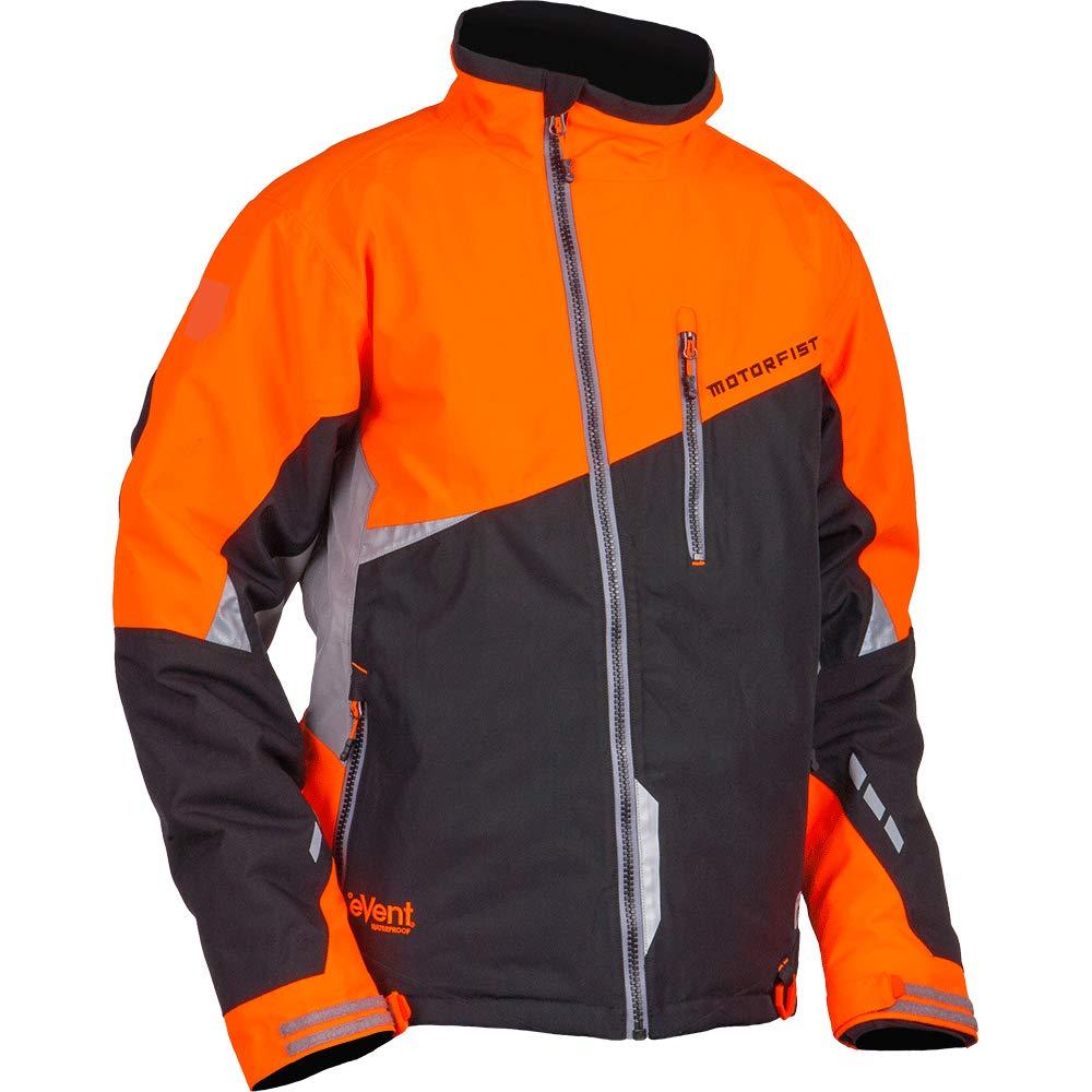 Black//Orange, Medium Motorfist Mens Redline Jacket