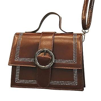 eb95d8ecde0d Amazon.com: Snowfoller Women's Fashion Flap Bag Round Decor Belt ...