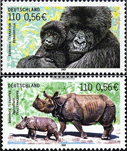 FRD (FR.Germany) 2182-2183 (complete.issue.) 2001 Endangered Species (Stamps for collectors) Mammals (Endangered Species Stamps)