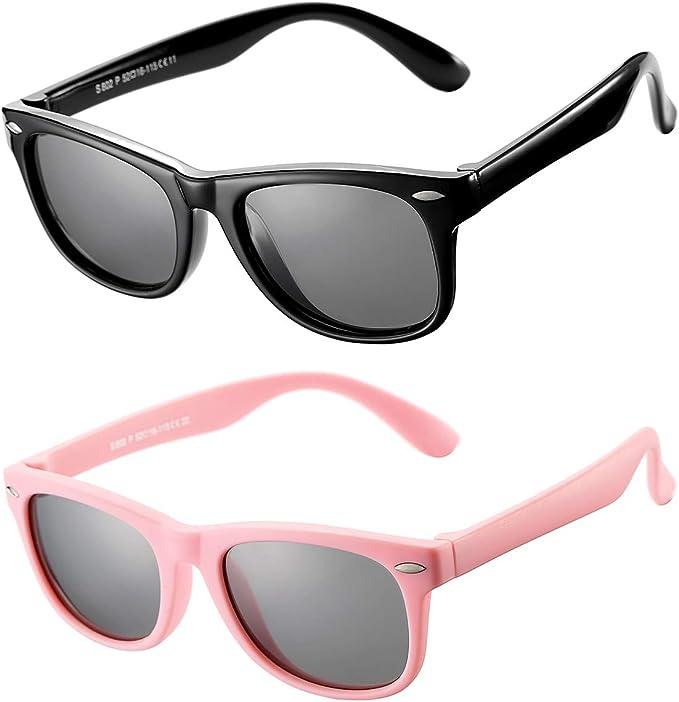 Cute TPEE Rubber Flexible Kids Polarized Sunglasses Boys Girls Outdoor Glasses