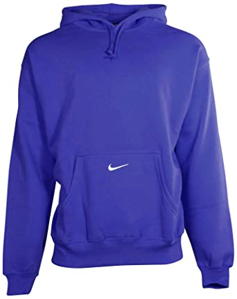 b1402f1bb126 Nike Men s Team Classic Fleece Pullover Hoodie - Blue -  Amazon.co ...