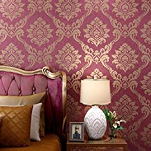 HUANGYAHUI Modern Environmental Protection Non-Woven Fabric, Wallpaper, Bedroom, Living Room, Sofa, Tv, Background Wall, Wallpaper,Red Brick