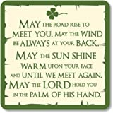 Irish Coaster With May The Road Rise Saying