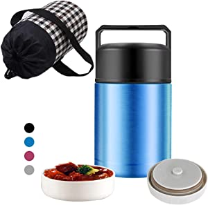 Micnaron Food Jar,Stainless Steel Food Flask Vacuum Insulated Lunch Box,BPA Free Soup Container with Handle Lid,Leak Proof Food Thermos