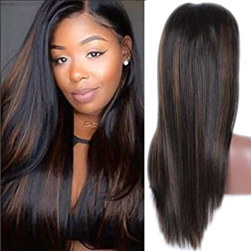 Amazon Com Topfeeling Ombre Brazilian Hair Glueless Lace Front