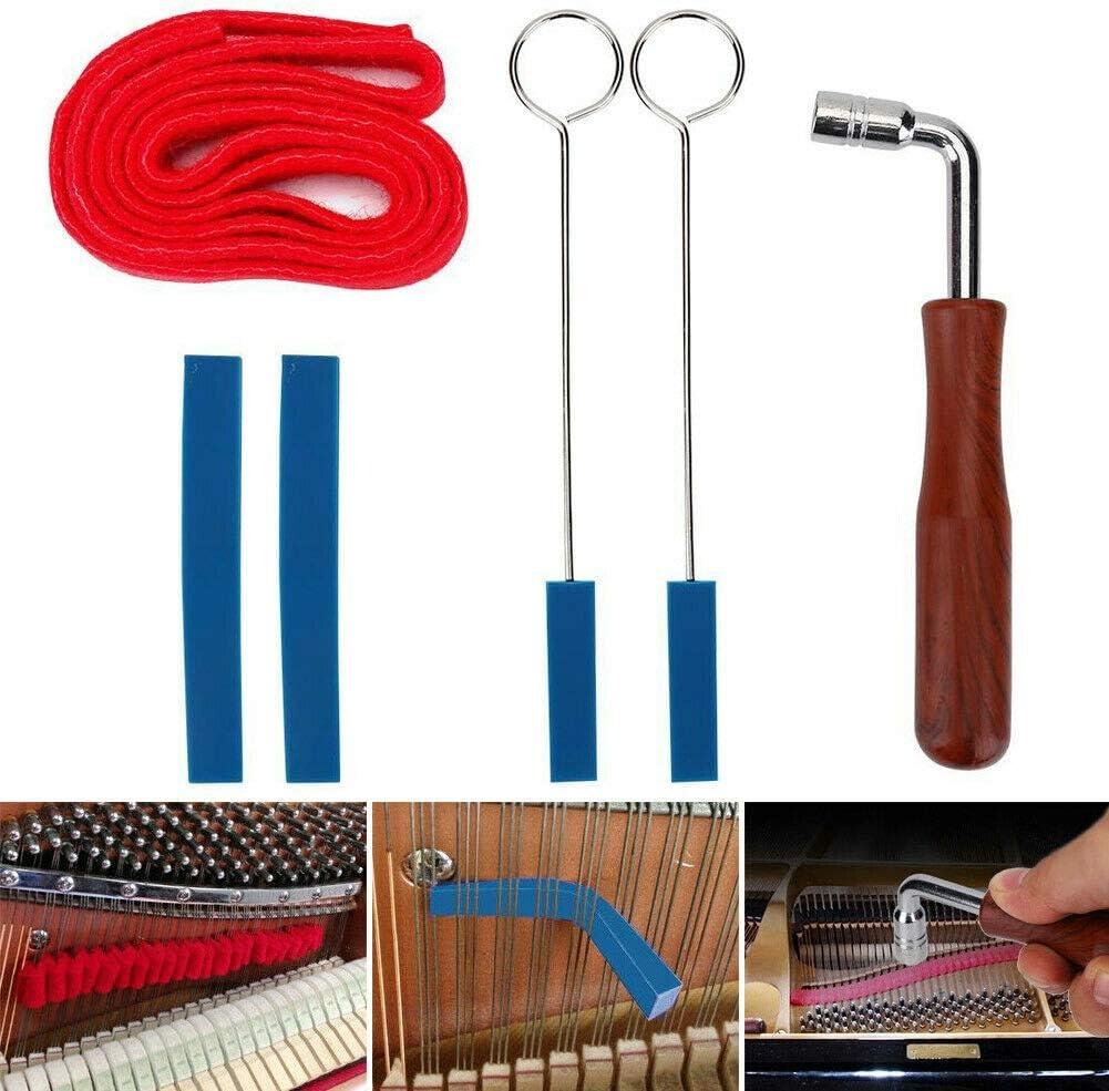 marteau de cl/é daccord JZK 6 x Outil daccordeur de marteau de r/églage de piano bande de temp/érament et kit muet pour kit de fixation de bricolage pour piano
