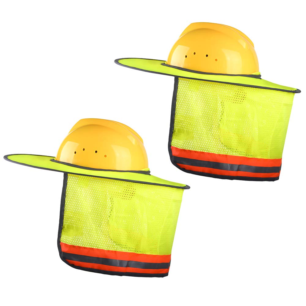2 Pack Full Brim Hard Hat Sun Shield,Hard Hat Sun Shield For Reflective,High Visibility Designed For Your Safety