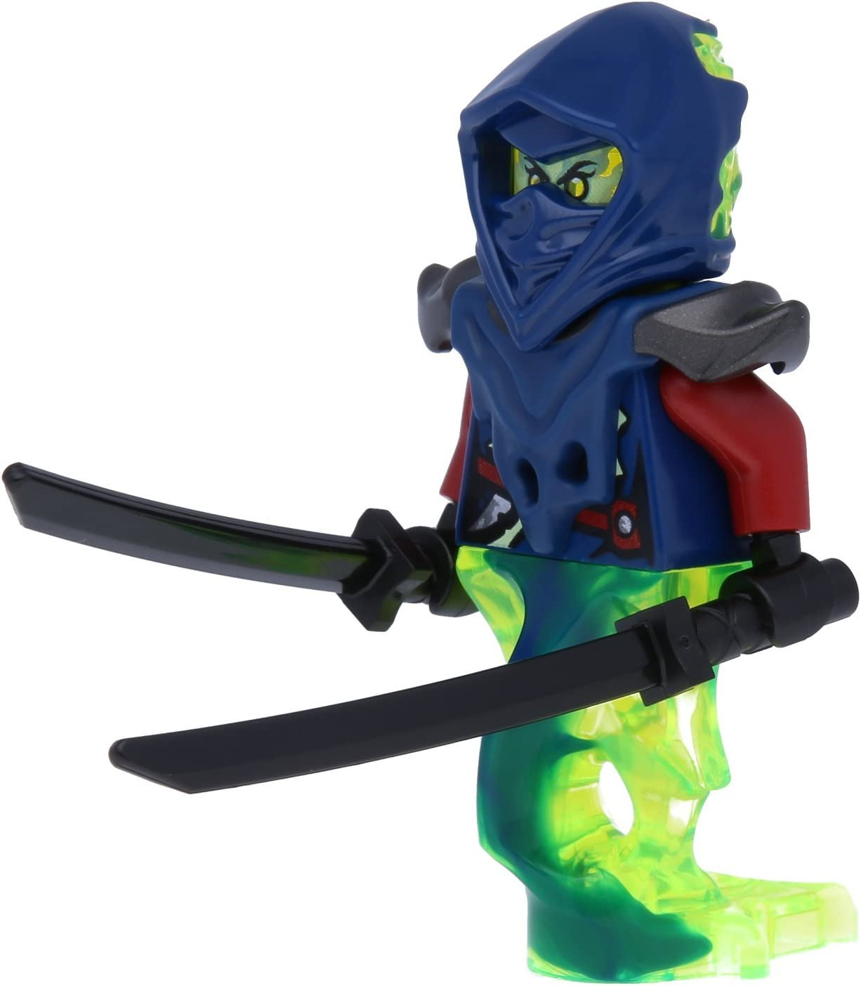 LEGO Ninjago Minifugur Blade Master Bansha - Ghost Legs NEU aus Set 70738 INKL. Zwei seltenen Ninja Schwertern