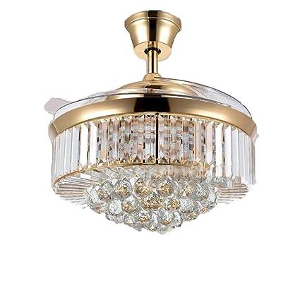 Amazon.com: LgoodL Ventilador de techo de cristal con luces ...