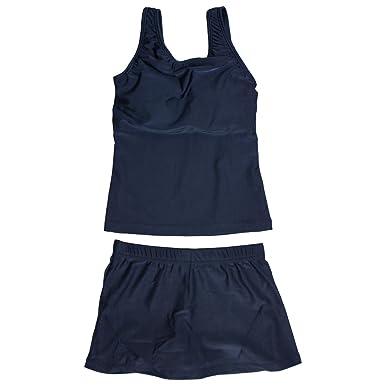 247a9aa3049 Amazon | スクール水着 子供 女の子 スカート付 セパレート水着 女子 子供水着 紺 無地 | 水着 通販
