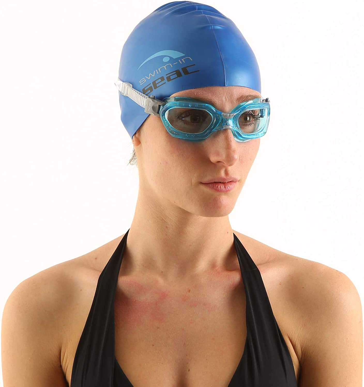 Ideal for Men and Women SEAC Silicone Cap for Swimming in The Pool