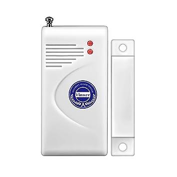 Sensor de contacto de puerta, vinker entrada ventana inalámbrico interruptor de contacto magnético para alarma