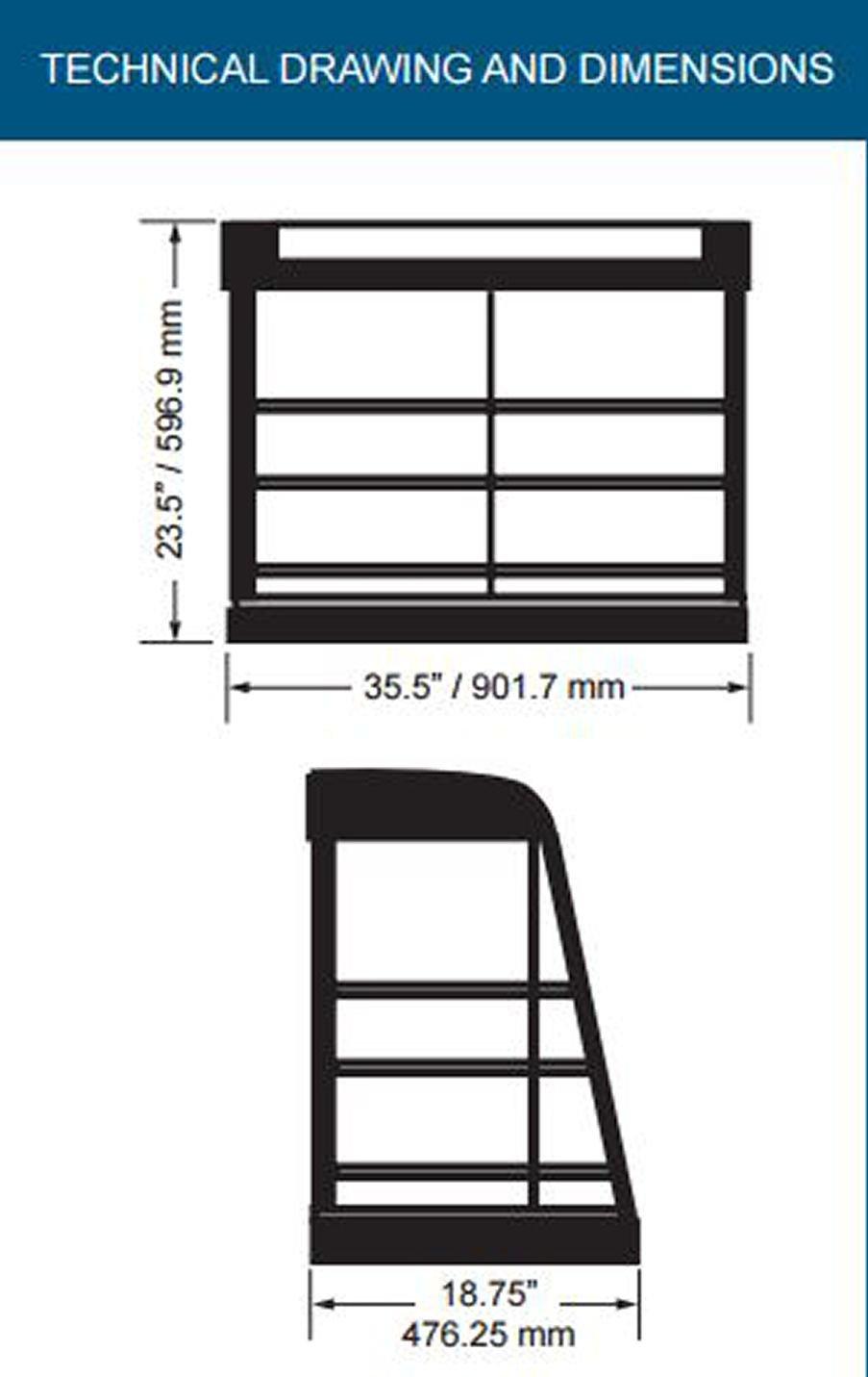 Omcan 21570 Commercial 36'' Hot Food Warmer Glass Merchandiser Display Case