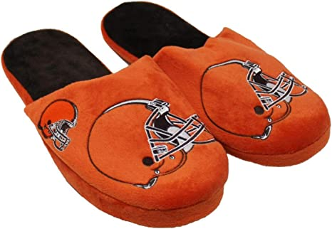 Forever Collectibles NFL Cleveland Browns Mens Slip On Slippers