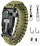 Paracord-Bracelet-Emergency-Kit-17-pcs-Survival-Gear-by-A2S-Ultimate-Survival-Series-includes-12-pcs-Fishing-Gear-Baits-Emergency-Food-Preparedness-for-all